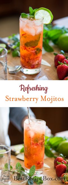 Strawberry Mojito Recipe for Best Mojito Cocktails Recipe @bestrecipebox