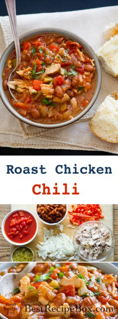 Roast Chicken Chili Recipe that's easy and super delicious | @bestrecipebox