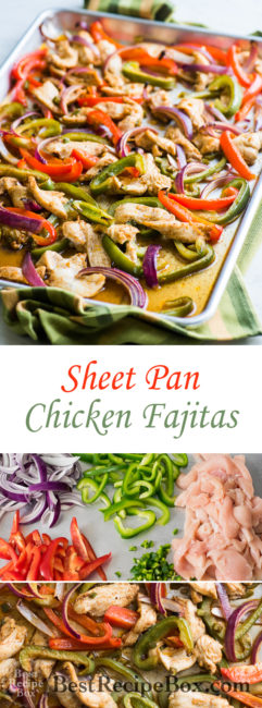 Sheet Pan Chicken Fajitas for Tacos, Burritos and Salads | @bestrecipebox