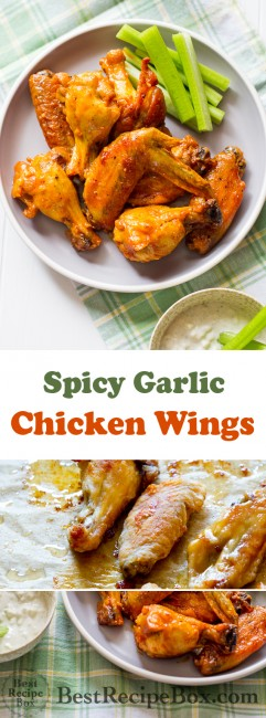 Best Garlic Chicken Wings Recipe loaded with flavor   @BestRecipeBox