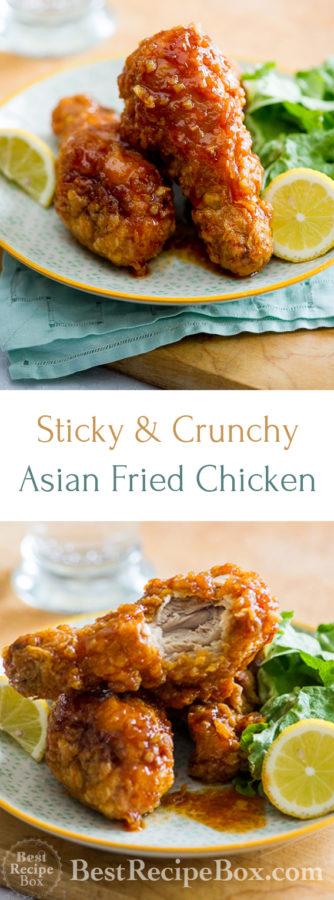 Amazing Asian Fried Chicken Recipe with Garlic Chili Sauce | @bestrecipebox