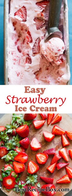 Easy Strawberry Ice Cream Recipe: No Churn, 3-Ingredients