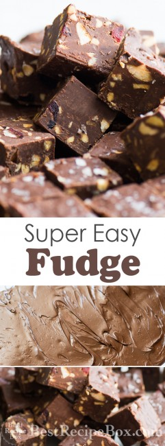 Super Easy Fudge Recipe | @whiteonrice
