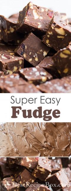 Super Easy Fudge Recipe | @whiteonrice