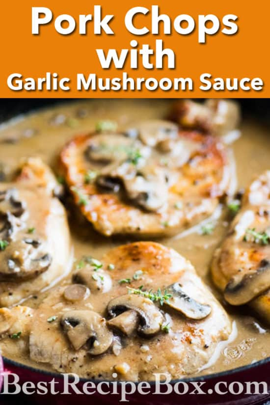 One Pot Pork Chops Mushroom Sauce Recipe | @bestrecipebox