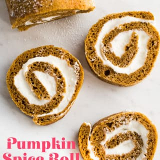 Pumpkin Spice Roll Cake with Creamy Cream Cheese Filling YUM! | @bestrecipebox