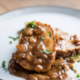 Pork Roast with Caramelized Onion Gravy