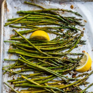 Roasted Asparagus Recipe with Garlic and Lemon | @bestrecipebox