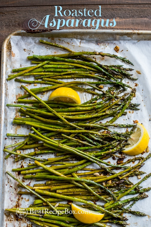 Roasted asparagus recipe with garlic lemon roasted asparagus recipe with garlic and lemon bestrecipebox ccuart Choice Image