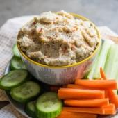 Roasted Cauliflower Hummus Recipe is best low fat hummus | @bestrecipebox