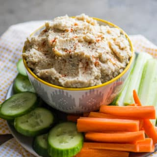 Roasted Cauliflower Hummus Recipe is best low fat hummus | @bestrecipebox