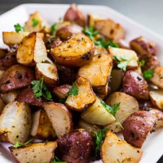 Roasted Potatoes with Rosemary, Garlic, Parmesan