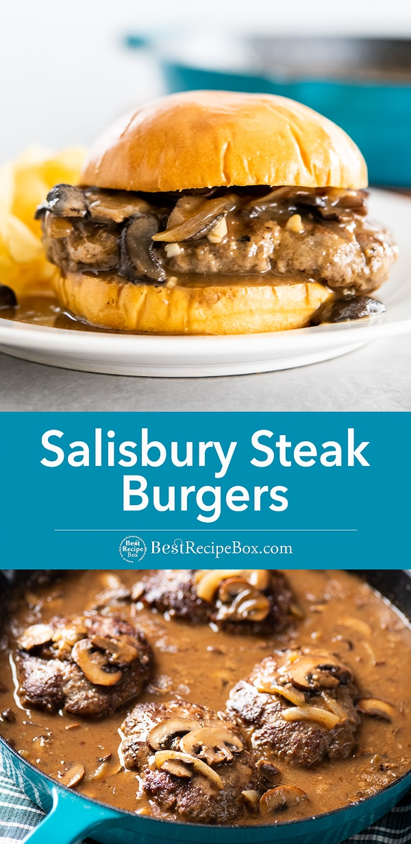Salisbury Steak Burgers Recipe with Gravy and Mashed Potatoes step by step
