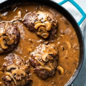 Salisbury Steak Recipe with Mushroom Gravy | @BestRecipeBox