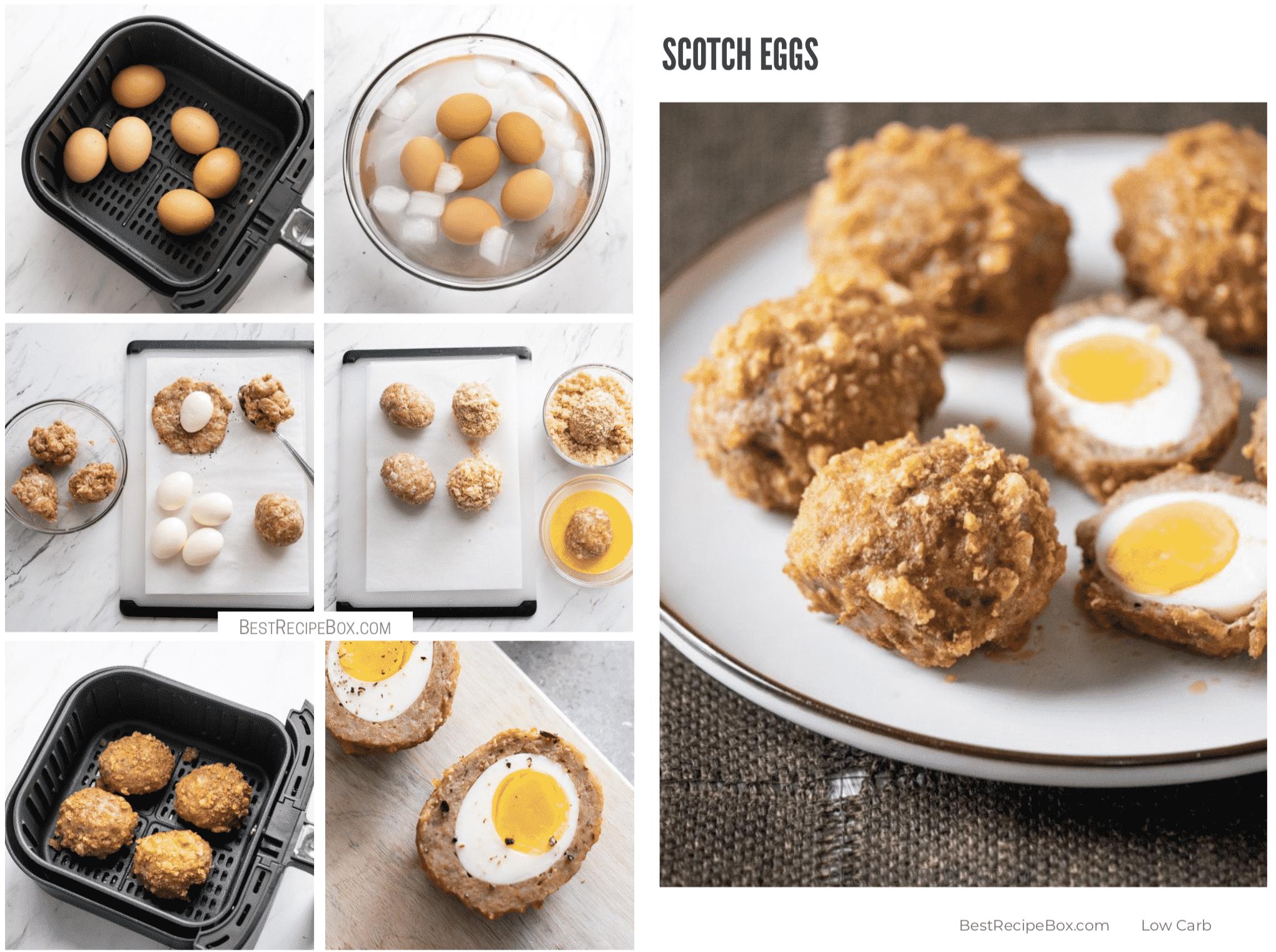 Low Carb KETO Scotch Eggs Recipe in Air Fryer | @BestRecipeBox