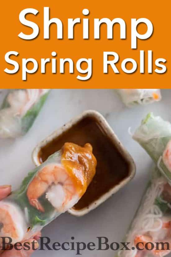 Vietnamese Fresh Shrimp Spring Rolls recipe @bestrecipebox
