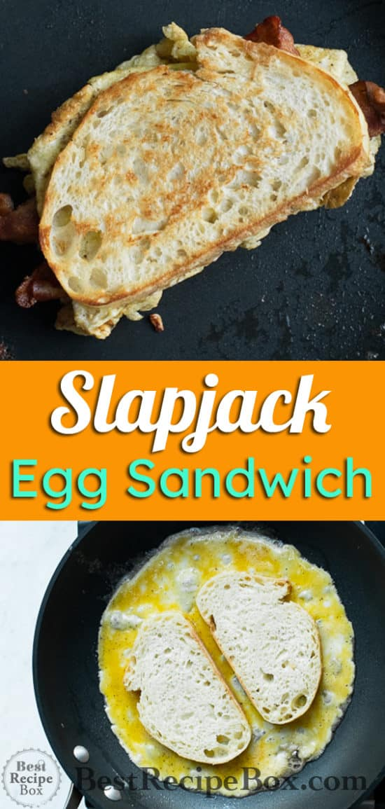 Easy Egg Sandwich Recipe with Cheese and Bacon, SlapJack style | @bestrecipebox
