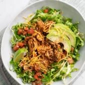 Slow Cooker Chicken Taco Salad in Crock Pot Shredded Chicken | BestRecipeBox.com