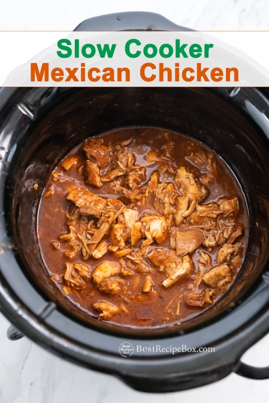 Slow Cooker Mexican Chicken Recipe in the Crock Pot
