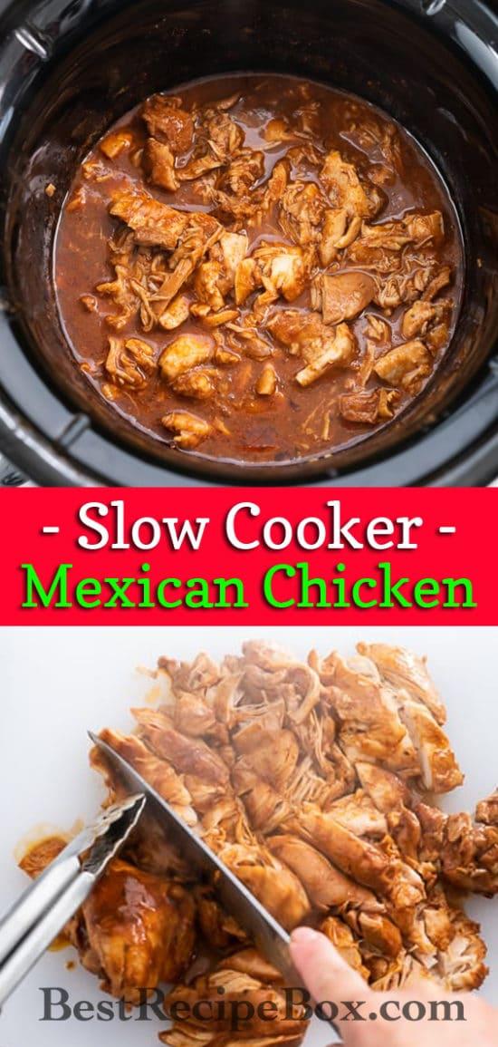 Crock Pot Mexican Chicken Recipe | BestRecipeBox.com