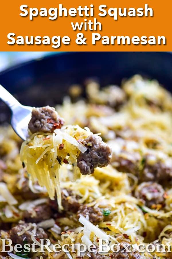Spaghetti Squash Recipe with Sausage | Healthy Spaghetti Squash Recipe @bestrecipebox