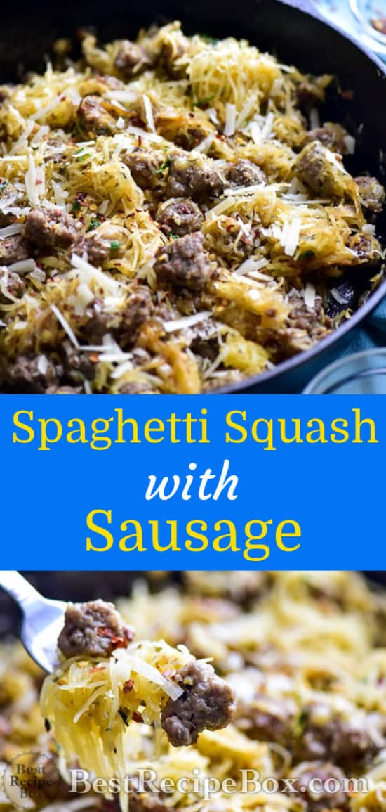 Spaghetti Squash Recipe with Sausage | Healthy Spaghetti Squash Recipe @bestrecipebox
