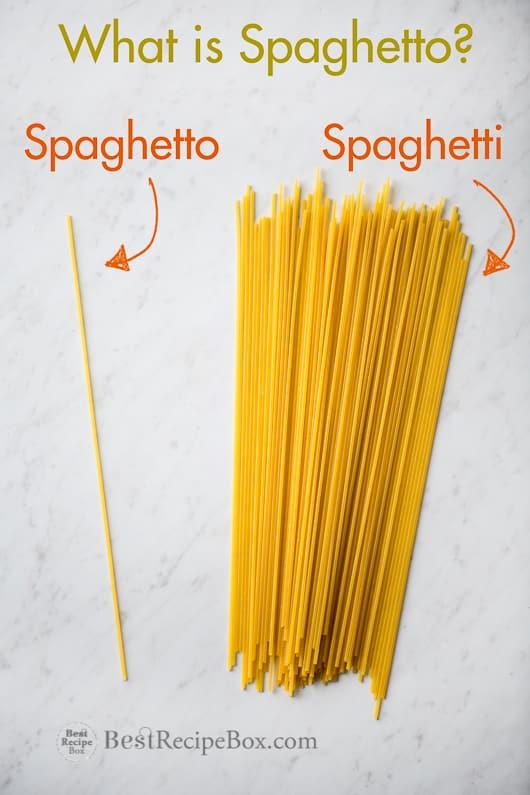 Spaghetto Recipe with Marinara and Parmesan on a cutting board