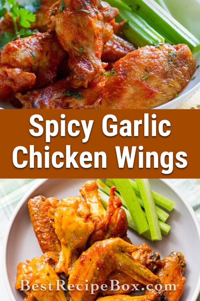 Best Garlic Chicken Wings Recipe loaded with flavor | @BestRecipeBox