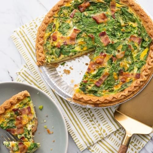 Super Easy Quiche Recipe With Spinach Bacon Or Ham Best Recipe Box