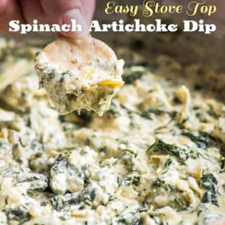 Easy Stove Top Spinach Artichoke Dip Recipe for Parties and more parties! | @bestrecipebox
