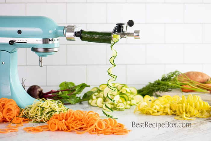 Vegetable Spiralizer KitchenAid Attachment for Zucchini Noodles @bestrecipebox