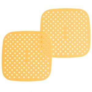 """8.5"""" Square Orange Silicone Mat"""