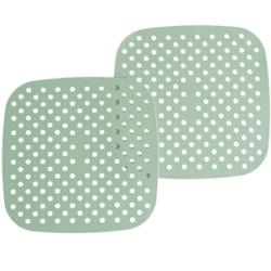 "8.5"" Square Green Silicone Mat"