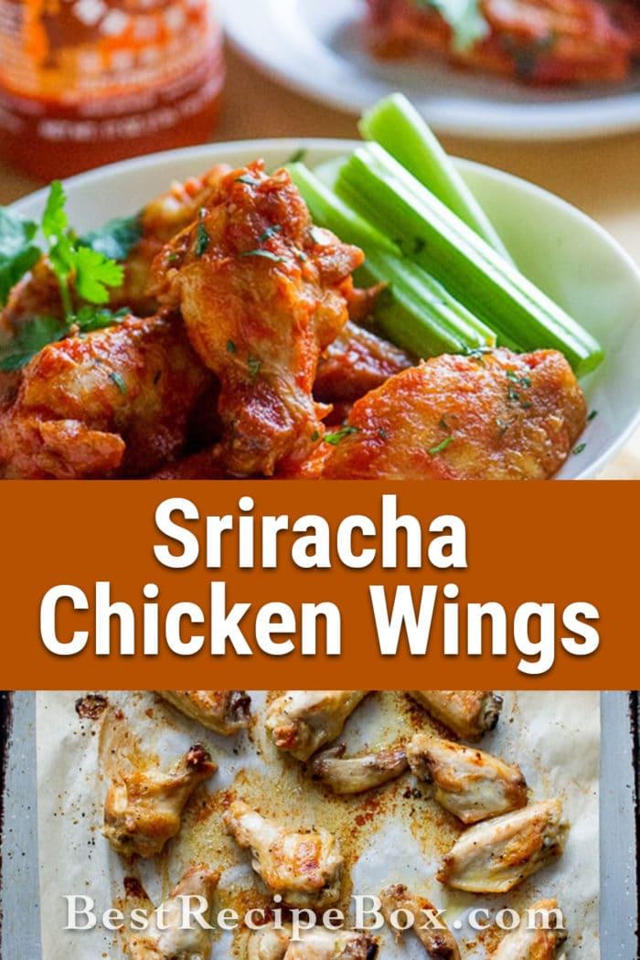 sriracha chicken buffalo wings recipe