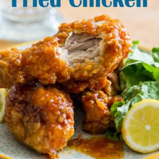 Crunchy Asian Fried Chicken with Garlic Chili Sauce