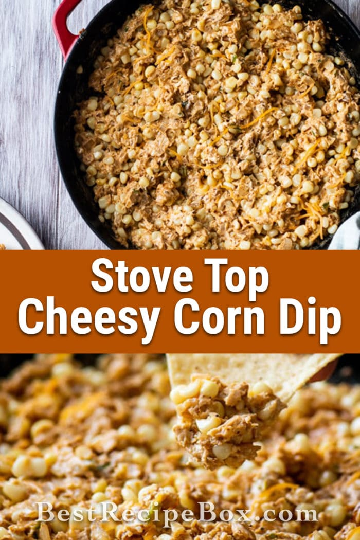 Stove Top Cheesy Corn Dip Recipe for Easy Dip Recipe with Cheesy   @bestrecipebox