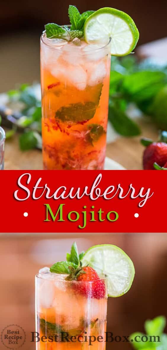 Strawberry Mojito Recipe for Best Mojito Cocktails Recipe @bestrecipebox