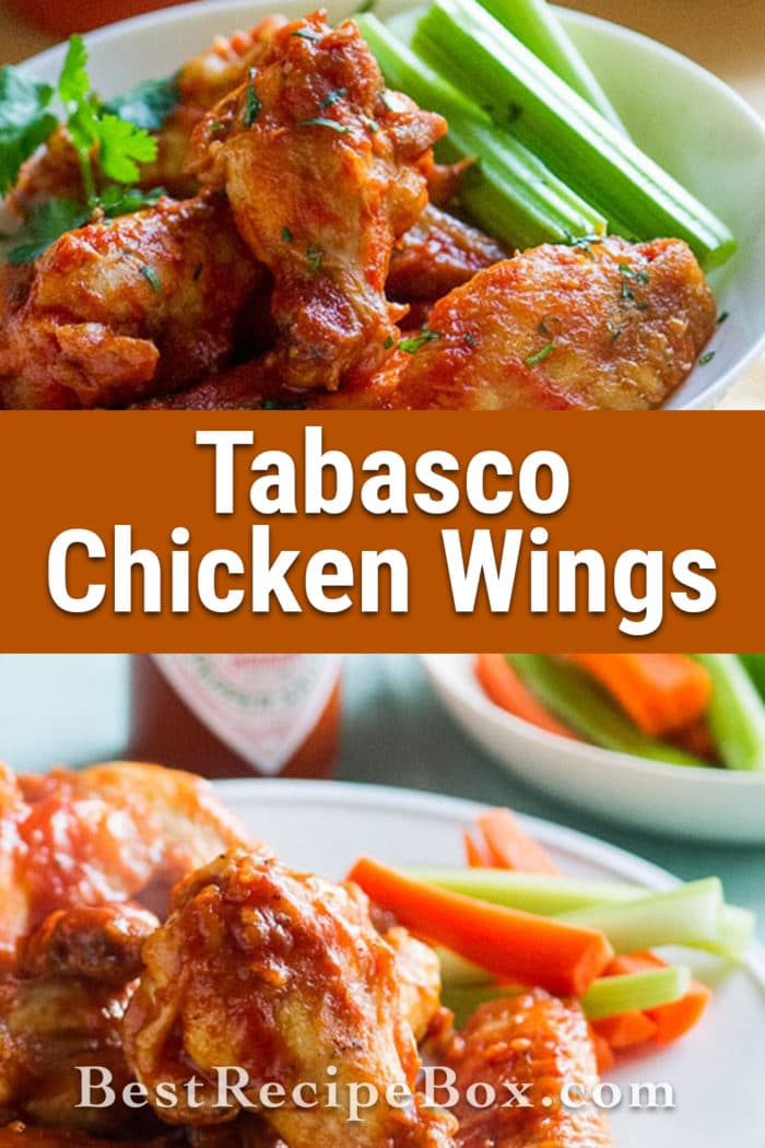 Healthier Tabasco Chicken Wings loaded with flavor, less fat | @bestrecipebox