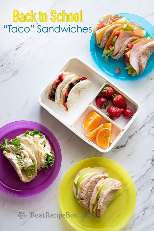 Taco Sandwiches Peanut Butter Jelly For Back To School Lunch Ideas