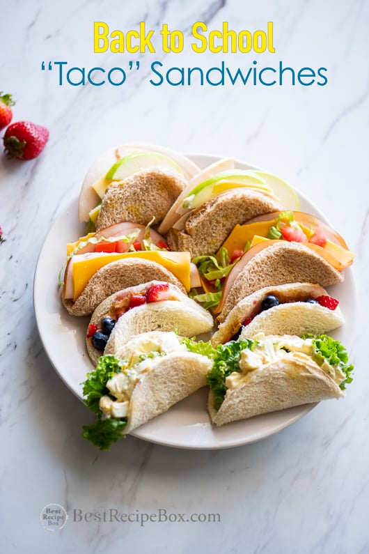Back to School Taco Sandwiches Kids Lunch Ideas @bestrecipebox