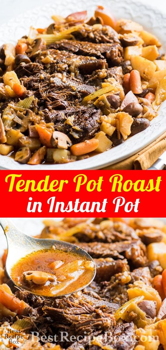 Tender Juicy Pot Roast in Instant Pot Pressure Cooker | @bestrecipebox