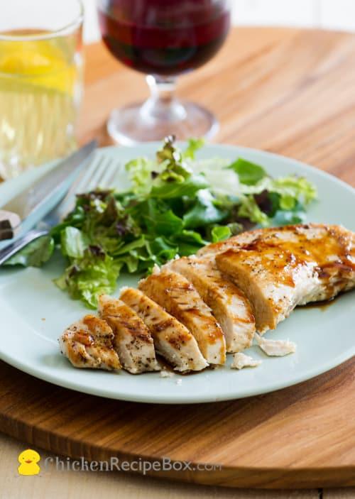 Super Easy and Delicious Japanese Teriyaki Glazed Chicken Breast Recipe via ChickenRecipeBox.com