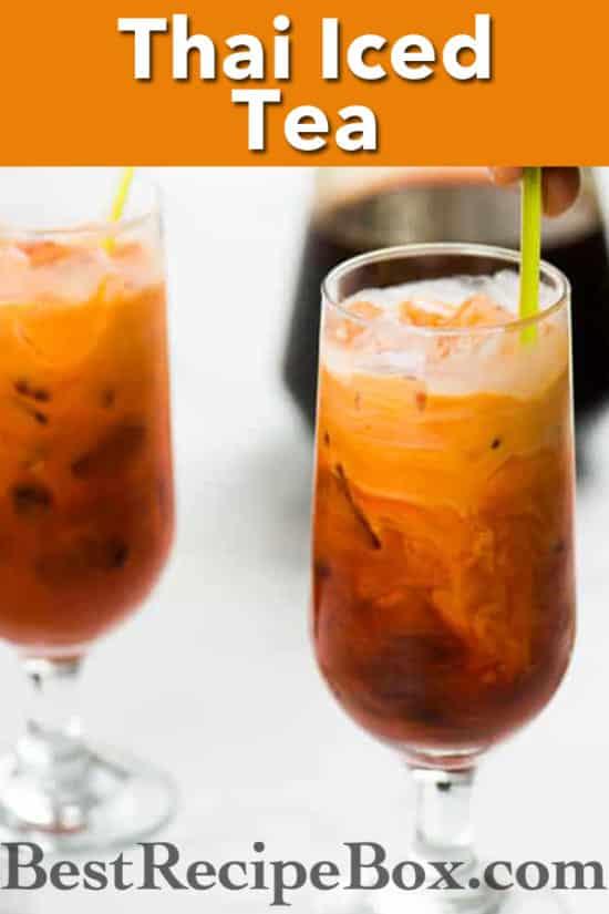 Thai Iced Tea Recipe - Homemade! Super Easy and Just like the restaurants   @bestrecipebox