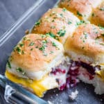 Thanksgiving Leftover Recipe Pull Apart Turkey Sliders | @bestrecipebox