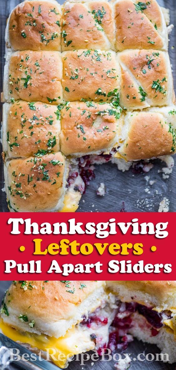 Thanksgiving Leftover Recipe Pull Apart Turkey Sliders | @bestrecipebox
