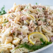 Easy Tuna Pasta Salad Recipe | BestRecipeBox.com