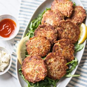 Easy Tuna Patties Recipe Low Carb and Paleo | @BestRecipeBox