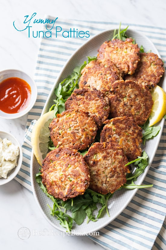 Easy Tuna Patties Recipe Low Carb and Paleo | @BestRecipeBox
