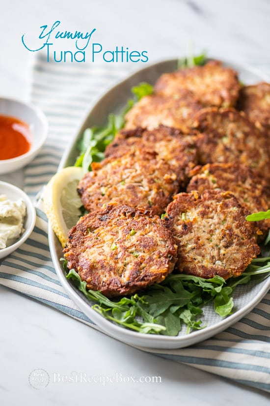 Easy Tuna Patties Recipe Low Carb and Paleo on a plate