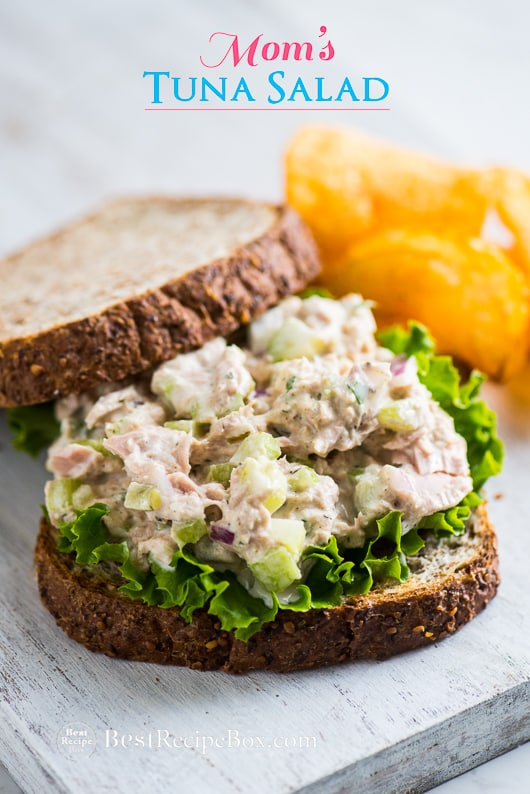 Mom 39 s best tuna salad recipe for tuna fish sandwich for Tuna fish salad recipe with egg